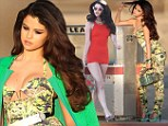 Retro doll! Selena Gomez is the ultimate Sixties siren as she struts around in vintage one-piece and bustier during filming for her new music video