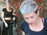 Miley took to Twitter to tell her fans: 'My hurrr ain't blue. That s**ts PLATINUM'