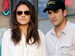 And even when they smarten their appearance for a date night, it appears Mila Kunis and Ashton Kutcher still like to co-ordinate their looks.