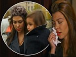 Heartbroken Kourtney Kardashian tears up after Scott Disick abandons her on romantic Paris bridge... as Kim accuses her of neglecting her relationship
