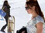 The Duchess of Cambridge did not let her pregnancy slow her down when she went sledging in Switzerland