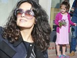 Salma Hayek and her daughter Valentina Paloma Pinault have lunch with family and friends in Venice, California