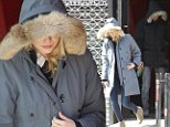 Let's play hide and seek! Emma Stone and Andrew Garfield cover up in furry jackets on trip to tattoo parlor