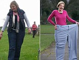 After she made the life-changing decision to stop tasting her own culinary delights, and slimmed down by six dress sizes in just five months, and now can fit into a single leg of her old trousers