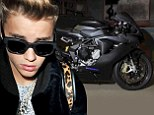 To the Biebermobile! Justin's father buys him a custom made superhero Bat Bike for his 19th birthday
