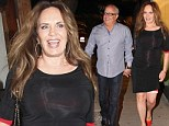 Catherine Bach looks happy as she steps out on a date to Madeo in Hollywood
