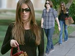 He's used to this by now! Sofia Vergara flaunts figure in sheer top to dine with 20-year-old son Manolo and friends