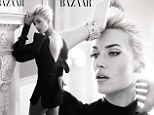 Kate Winslet on the cover of Harper's Bazaar UK's April issue