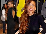 Now that's self promotion! Rihanna stuns as she promotes River Island range in a floor length gown from her collection
