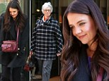 The apple doesn't fall far from the tree! Katie Holmes and her mother Kathleen wear coordinating outfits as happy pair are reunited in New York