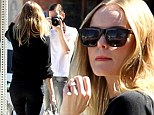Happy snaps: Kate Bosworth's fiance Michael Polish played paparazzo on an outing in in Studio City, Los Angeles, on Monday