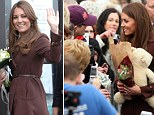 The famously discreet Duchess of Cambridge may have dropped her guard a little when she appeared to hint she might be having a baby girl during a walkabout in Grimsby yesterday