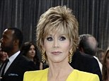 Cleansing: Actress Jane Fonda, seen at this year's Oscars, says she has finally 'made peace' with her body at the age of 75