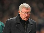 'Distraught': Manchester United manager Sir Alex Ferguson was not available for comment after tonight's defeat