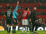 Controversial: Many observers felt Nani's red card swung the game in Real's favour