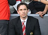 Stunned: Neville said in all the years he had been visiting Old Trafford, he had never seen the crowd so open-mouthed in astonishment