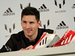 Peerless: Messi talks to Sportsmail in Barcelona on Wednesday