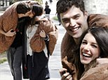 Undercover lovers! Shenae Grimes and her fiance snuggle up under a blanket for the final day of filming 90210