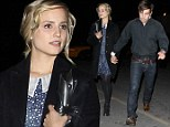 Still dotty for you! Dianna Agron wears cute vintage dress as she and boyfriend Christian Cooke hold hands after date night