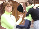 Go Figure! Skating champion Dorothy Hamill shows off her moves as she larks around with partner Tristan MacManus outside DWTS rehearsals