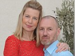 A little disrespect: Katie and her husband Mark, who she said she'll never put on a pedestal
