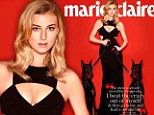 Looking fierce is the best Revenge! Emily VanCamp is flanked by two Doberman dogs as she poses in a sexy low-cut gown for Marie Claire magazine
