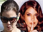 Desperate for hair dye! Former face of Nice N' Easy Teri Hatcher shows her grey roots while walking the dog
