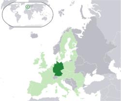 جایگاه کشور آلمان روی نقشه