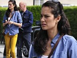 Dye Hard! Bruce Willis' wife Emma Heming sports bright yellow trousers on lunch outing