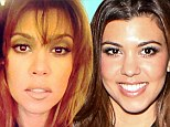 New fringe: Kourtney Kardashian got a a fresh hairstyle, on Wednesday