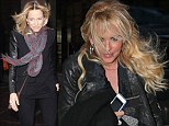 Sheryl Crown and Jenny McCarthy out in windy New York