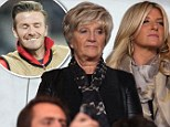 David Beckham's family proudly looked on as he played with new team Paris Saint-Germain in France on Wednesday