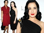 Padma Lakshmi and Dita Von Teese attends the Dukes Of Melrose Premiere at 583 Park Avenue on March 5, 2013 in New York City