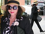 British actress Joan Collins was spotted this afternoon in Beverly Hills at a nail spa