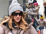 Sarah Jessica Parker and kids in New York City on Wednesday