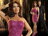 It's time to jive! Lisa Vanderpump slips into her signature pink as she and the Dancing With The Stars 2013 line-up pose for their official portraits