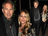 Table for two! Kevin Costner and wife Christine Baumgartner leave the children at home to enjoy date night at Madeo