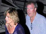 Not happy: Jeremy Clarkson leaves his luxury yacht with ex mistress Phillipa Sage