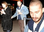 Unlimited salad and breadsticks! Shia LaBeouf wines and dines his girlfriend Mia Goth at the Olive Garden in Times Square