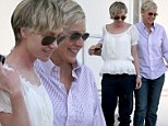 They make running errands look romantic! Loved up Ellen DeGeneres and Portia de Rossi take a stroll hand-in-hand