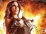 Deadly lingerie: Sofia Vergara as Lady Desdemona in the poster for Machete Kills, released on Thursday