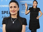 Standing up to be counted! Salma Hayek gives speech at domestic violence event
