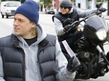 What would Jax Teller do? Sons Of Anarchy star Charlie Hunnam manages to keep his cool as his motorbike gets a parking ticket