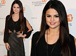 Morticia is that you? Selena Gomez channels the famous Addams Family character wearing a long black dress on the red carpet