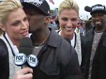 'I was rushed!' Erin Andrews explains why she gave rapper 50 Cent the kiss brush off at Daytona 500