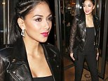She's a braided beauty: Nicole Scherzinger rocks cornrows and bright pink lips as she heads out for dinner