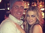 When water babes collide: Ryan Lochte and Carmen Electra posed up for a Twitter picture on Tuesday night