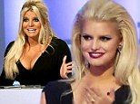 What bump? Jessica Simpson tries to distract viewers from her baby belly with big hair and even bigger cleavage on the set of Fashion Star