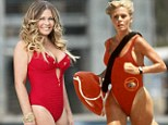 Diving back in! Slimmed down Nicole Eggert is back in a red swimsuit for official Splash photo... 20 years after Baywatch