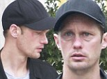 Just what has happened to Alexander Skarsgard's face? True Blood star emerges battered and bruised